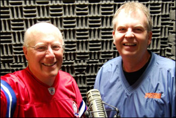 Mark Ovenden and Mike Henriksen - the hosts of Calling All Sports